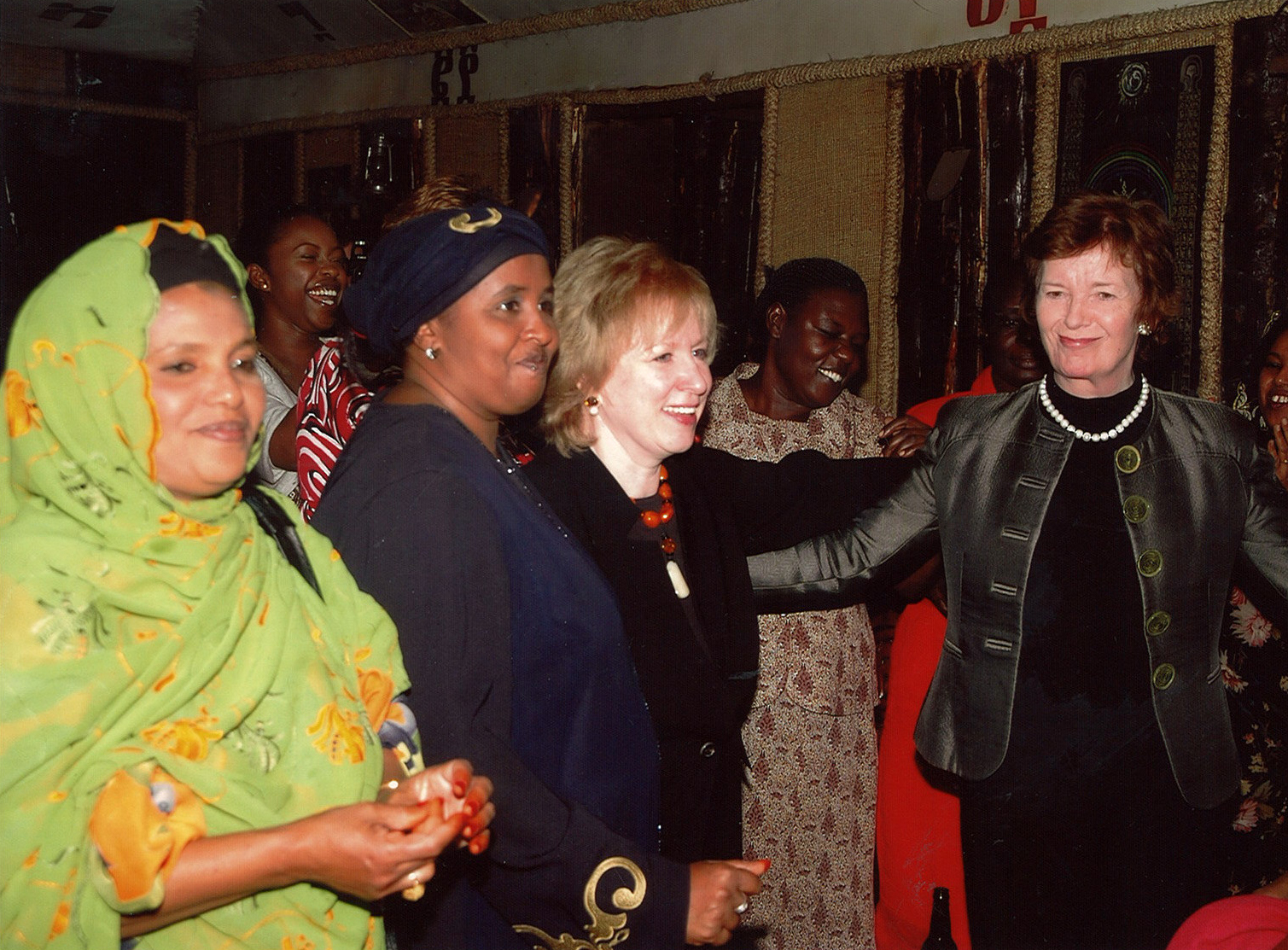 Kim Campbell and Mary Robinson